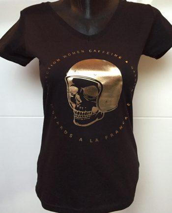 t-shirt femme tete de mort gold or (1)