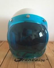visiere bleu bulle bubble type biltwell pour casque jet