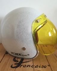 visiere jaune bulle bubble type biltwell pour casque jet