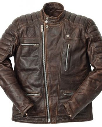 ride and sons veste cuir motard marron pas cher promo solde