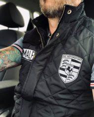 veste matelassee sans manches hommes porsche cafe racer moto malf motards a la francaise rs motorsport