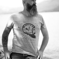 barbu t shirt mode moto custom barbier