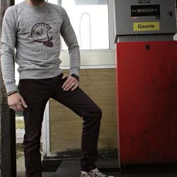 sweat shirt hipster vintage barbu moto cafe racer motorcycles biker