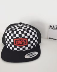 casquette 100 pour cent barstow damier snapback yupoong pas cher cross enduro freestyle mx