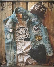 tee shirt biker hipster custom barber shop malf motards a la francaise