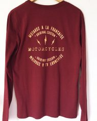 cafe racer biker sweat shirt motorcycles custom motards a la francaise malf
