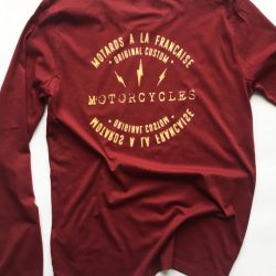 tee shirt manche logue cafe racer malf motards a la francaise hipster custom vintage marque vetement francaise 2