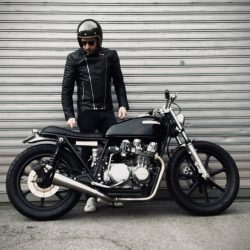 cafe racer motard veste cuir noir malf